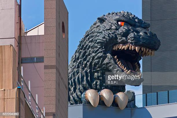 Giant Godzilla Statue Atop Toho Cinema in the Shinjuku Kabukicho District of Tokyo, Japan