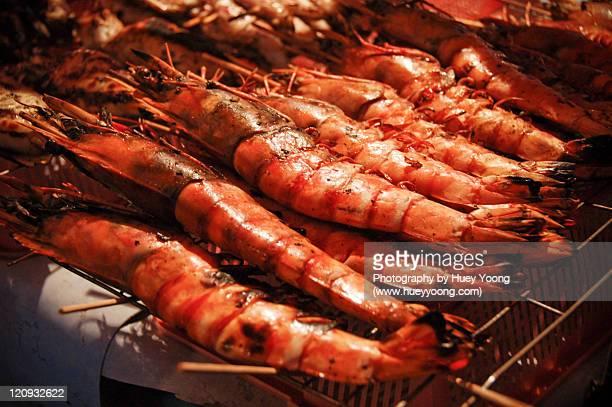 giant grilled prawns - サバ州 ストックフォトと画像