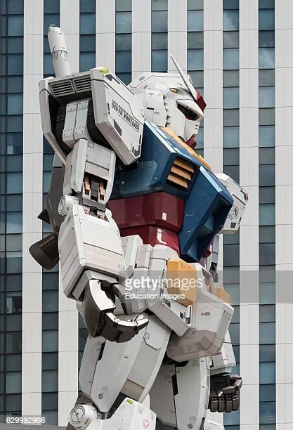 Giant Gundam robot statue Odaiba Daiba Tokyo Japan