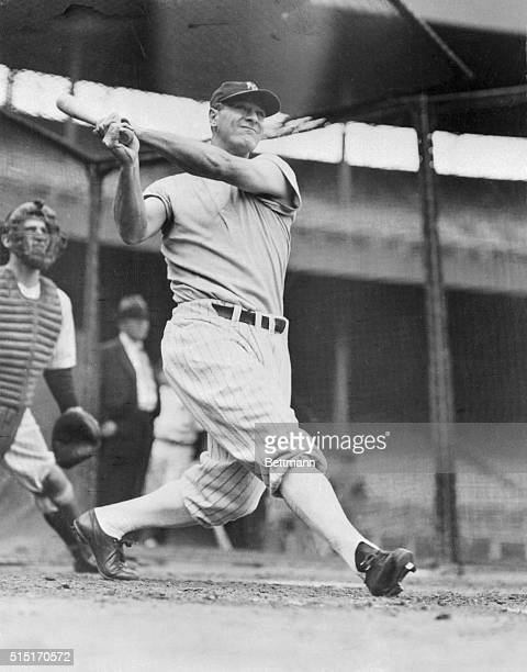 Giant killer? At least that's what Lou Gehrig hopes to be when he gets his big bat swinging in the World Series starting October 6th. The Yankee...