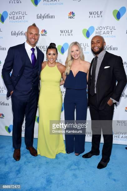 Giant Linebacker Mark Herzlich Danielle Conti Taylour Rutledge and NY Giants Running Back Shane Vereen attend The Joyful Revolution Gala In New York...
