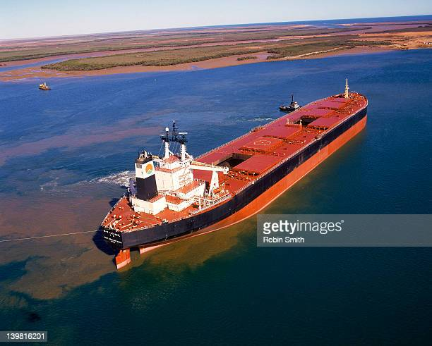 Giant ore carrier, Port Hedland,Western Australia