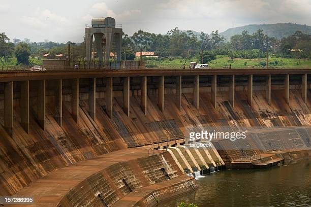 Giant Owen Falls Dam in the river Nile