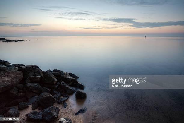 Giant pebble beach