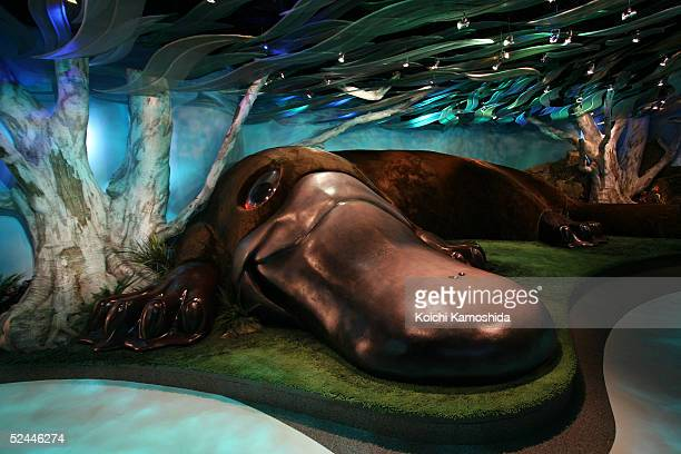 Giant platypus is seen at Australian Pavilion during the press day of the Aich Expo 2005 March 18 2005 in Nagakute Japan AichI Expo 2005 will be...