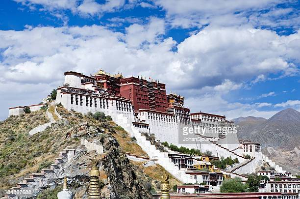 Giant Potala Palace located in Lhasa, Tibet