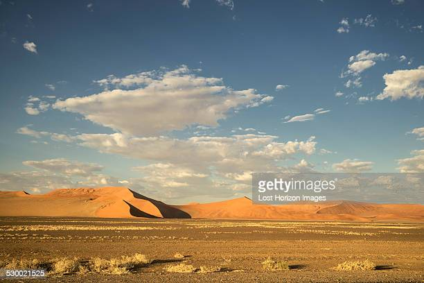 Giant sand dune in the Namib Desert