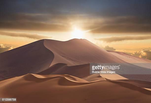 Giant sand dunes in Namib Desert