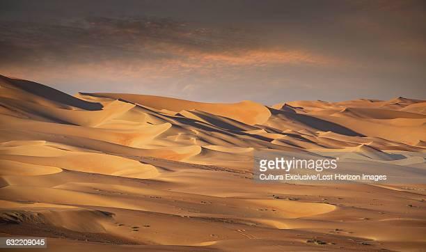 Giant sand dunes in the Empty Quarter Desert, between Saudi Arabia and Abu Dhabi, UAE