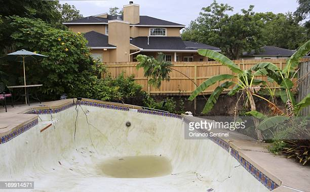 A giant sinkhole in Winter Park Florida has destroyed a pool and backyard Tuesday morning June 4 2013