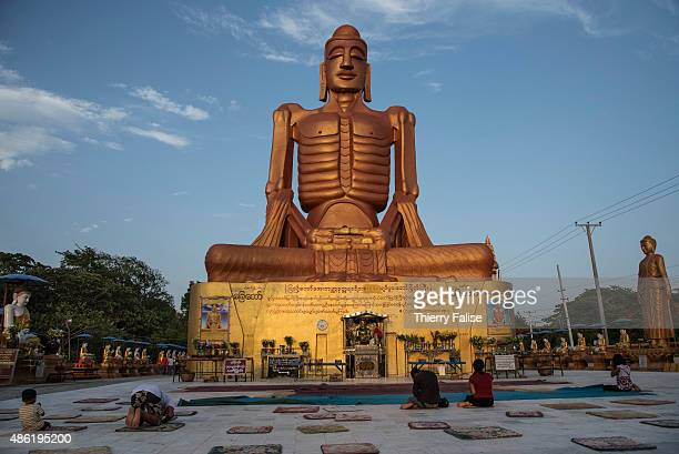 A giant statue of a 'starving Buddha' is erected in the Pyi Taw Aye pagoda in Mandalay The statue represents the Buddha before he reached attainment...