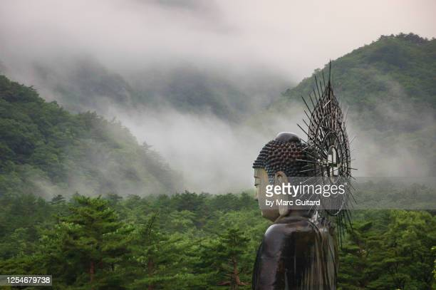 giant statue of buddha, seoraksan national park, south korea - gangwon province stock pictures, royalty-free photos & images