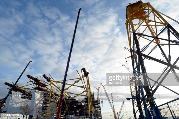 Giant steel structures for offshore wind power developments dominate the Methil yard of engineering company BiFab as the company faces the...