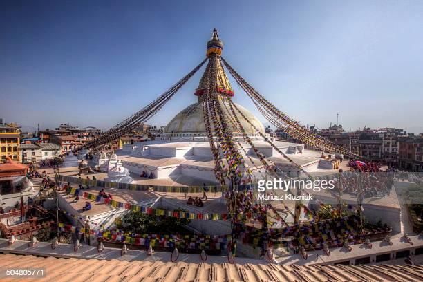 Giant stupa Kathmandu Nepal