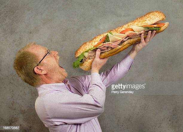 giant sub sandwich - submarine sandwich stock pictures, royalty-free photos & images
