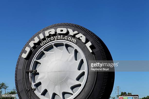 Giant Uniroyal Tire from the 1965 World's Fair sits along Interstate 94 on July 17, 2014 in Allen Park, Michigan.