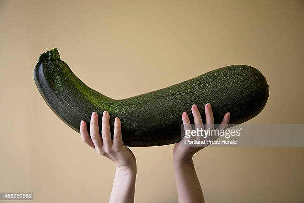 A giant zucchini photographed for Source on Monday August 18 2014
