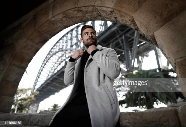 Giants AFL player Stephen Coniglio poses during a portrait session on April 23, 2019 in Sydney, Australia.