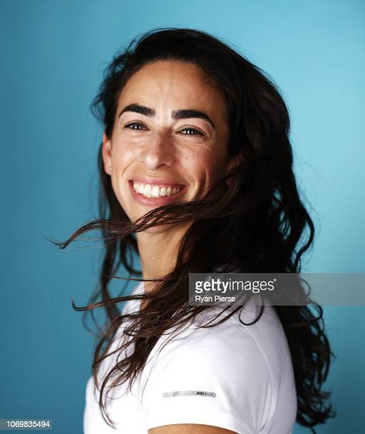 Giants AFLW Player Amanda Farrugia poses during a Australian Women's Sport Portrait Session on September 25 2018 in Sydney Australia