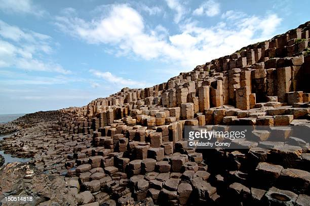 giant's causeway, antrim, n.ireland - giant's causeway stock pictures, royalty-free photos & images