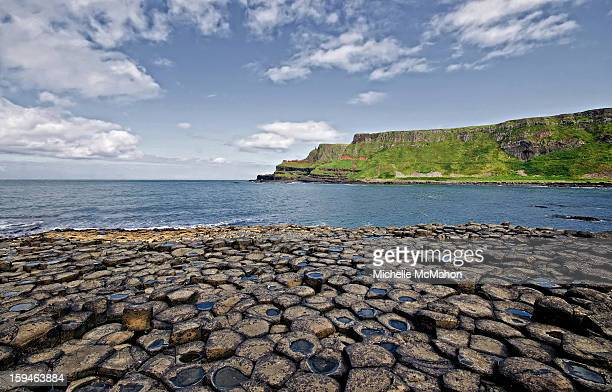 giants causeway. antrim - county antrim stock pictures, royalty-free photos & images