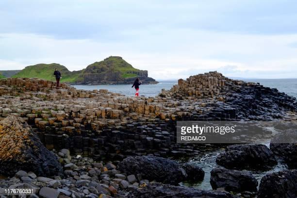 Giant's Causeway. Bushmills. County Antrim. On the north coast of Northern Ireland.