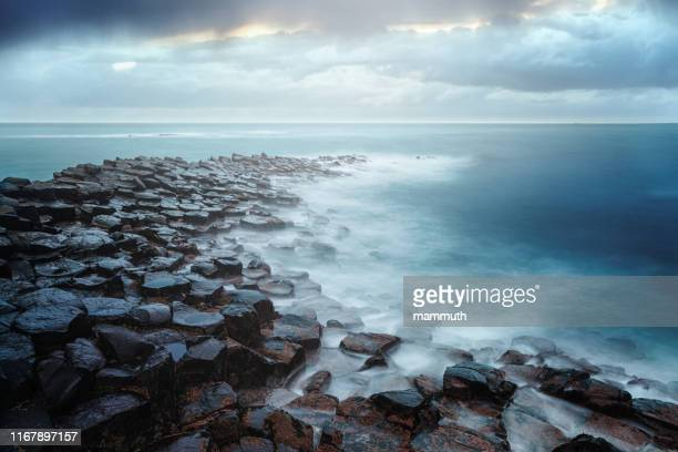 giant's causeway, county antrim, northern ireland - atlantic ocean stock pictures, royalty-free photos & images