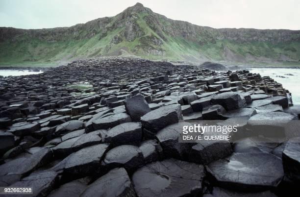Giant's Causeway, Giant's Causeway , prismatic columns of basalt, Bushmills, County Antrim, Northern Ireland, United Kingdom.