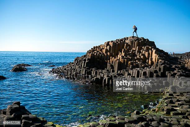 giant's causeway in northern ireland - northern ireland stock photos and pictures