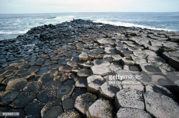 Giant's Causeway interlocking basalt columns Bushmills County Antrim Northern Ireland United Kingdom