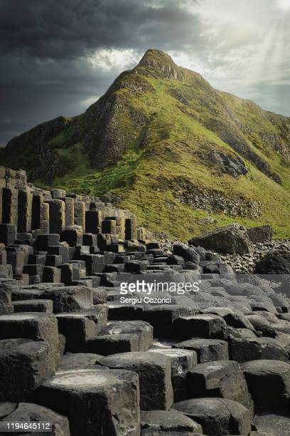 giants causeway northern ireland - coastal feature stock pictures, royalty-free photos & images