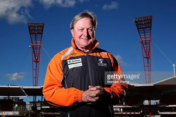 Giants coach, Kevin Sheedy poses during a Greater Western Sydney Giants AFL media session at Skoda Stadium on August 21, 2013 in Sydney, Australia.