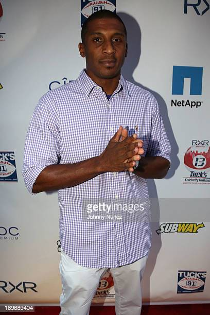 Giants Corey Webster attends the NY Giants Justin Tuck's 5th Annual Celebrity Billiards Tournament on May 30 2013 in New York City
