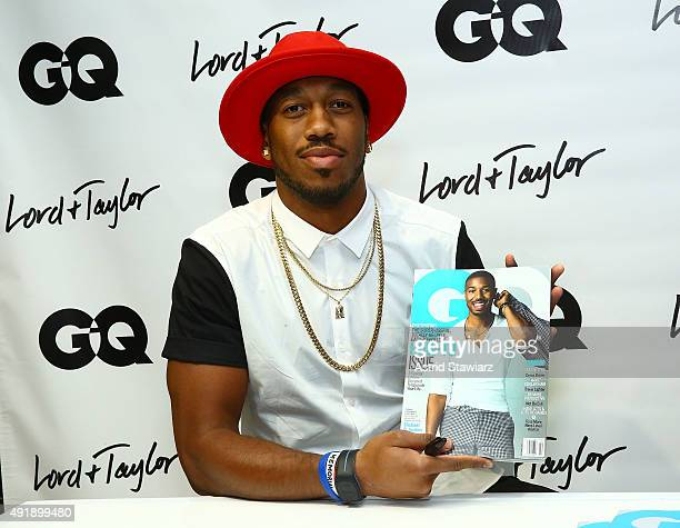 Giants football player Rueben Randle attends the GQ event at Lord Taylor featuring Rueben Randle on October 8 2015 in New York City