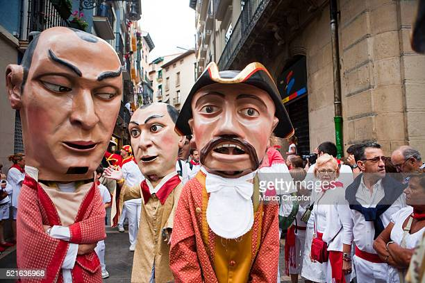 Giants of Pamplona Procession, Festival of San Fermin, Pamplona, Spain