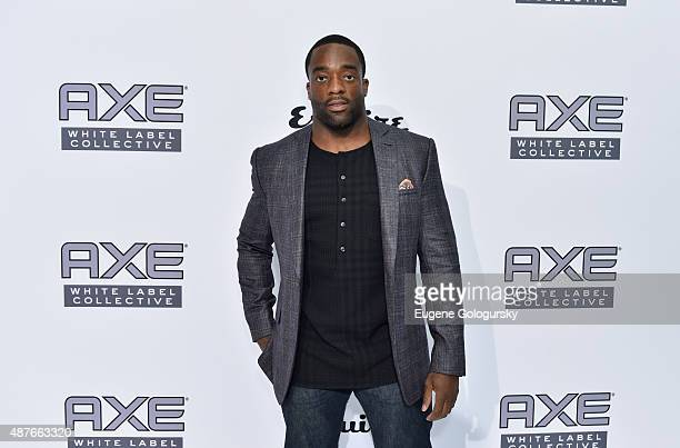 Giants player Andre Williams attends as AXE and Esquire present the AXE White Label Collective during the opening night of New York Fashion Week on...