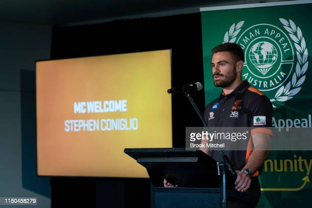Giants player Stephen Coniglio is pictured on May 20 2019 in Sydney Australia The annual Iftar dinner hosted by the Giants aims to bring the Western...