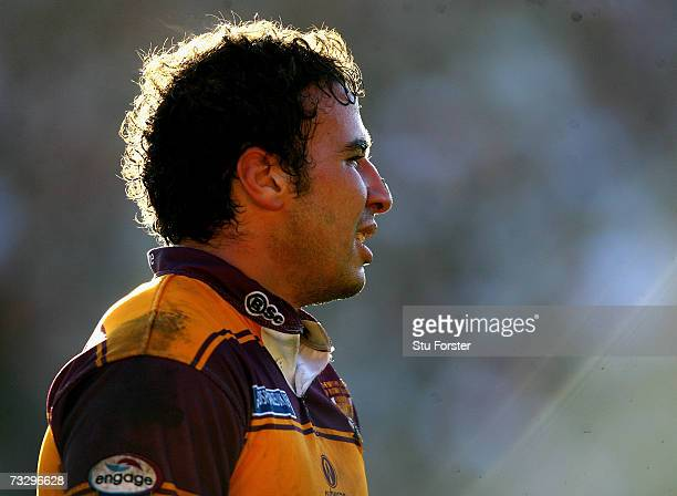 Giants player Stephen Wild looks on during the Engage Super League match between Bradford Bulls and Huddersfield Giants at Odsal Stadium on February...