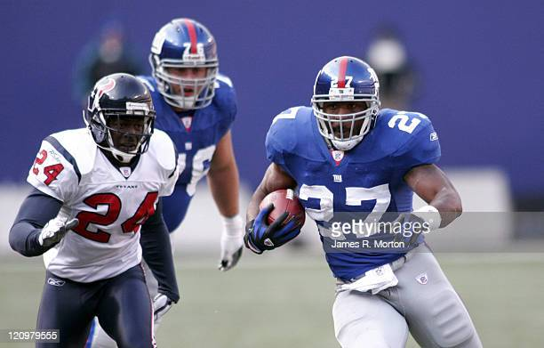 Giants Running back Brandon Jacobs in action as the New York Giants beat the Texans 14 to 10 on November 5th 2006 at The Meadowlands in East...