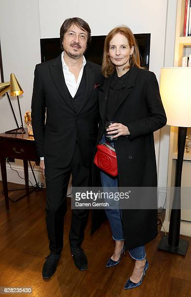 Gianvito Rossi and Arabella Greenhill attend as Gianvito Rossi hosts a private dinner in London to celebrate the Gianvito Rossi 10th Anniversary on...