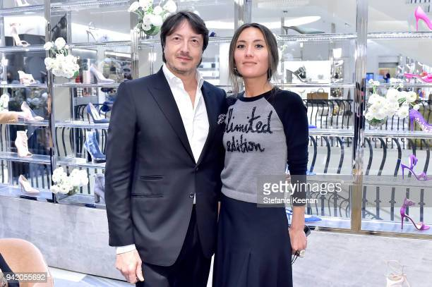 Gianvito Rossi and guest attend Georgie Flores Nicole Yoone Zolee Griggs and Barneys New York Celebrate #BarneysShoeStories at Barneys New York...