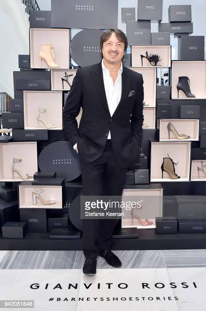 Gianvito Rossi attends as Georgie Flores Nicole Yoone Zolee Griggs and Barneys New York celebrate #BarneysShoeStories at Barneys New York Beverly...