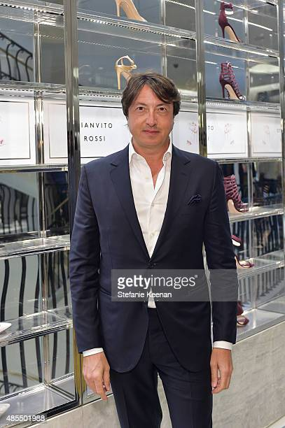 Gianvito Rossi attends Barneys New York Fetes Shoe Designer Gianvito Rossi at Barneys New York Beverly Hills on August 27 2015 in Beverly Hills...