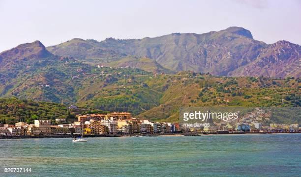 giardini naxos, italy - naxos sicily stock pictures, royalty-free photos & images