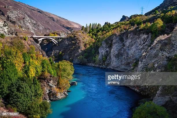 Gibbston Highway across Kawarau River, South Island, New Zealand