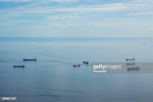 Gibraltar, Cargo ships, roadstead