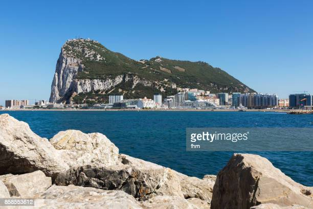 gibraltar - city and upper rock - gibraltar/ uk - gibraltar stock pictures, royalty-free photos & images