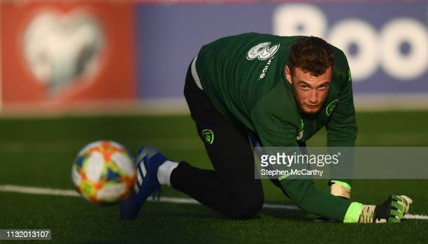 Gibraltar Gibraltar 22 March 2019 Mark Travers during a Republic of Ireland training session at Victoria Stadium in Gibraltar