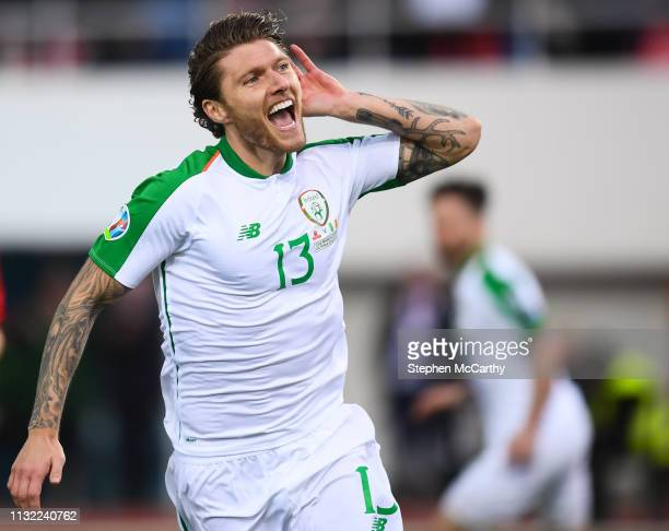 Gibraltar Gibraltar 23 March 2019 Jeff Hendrick of Republic of Ireland celebrates after scoring his side's first goal during to the UEFA EURO2020...