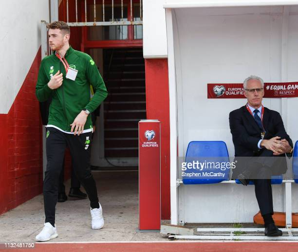 Gibraltar Gibraltar 23 March 2019 Mark Travers and Republic of Ireland manager Mick McCarthy prior to the UEFA EURO2020 Qualifier Group D match...